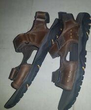 Rockport Mens Fabulous Darwyn Qtr Straps Leather Sandals Brown Size UK8 /42EUR
