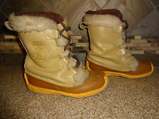 Vintage Womens Nanook Sorel Sz 5 Fur Trim Winter Snow Boots Removable Liners B