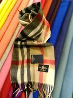 The House Of Balmoral Camel Thomson Cashmere Scarf Warm Pure Soft 100% CASHMERE