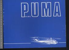 (192) Brochure hélicoptère Aircraft Helicopter aerospatiale Westland Puma Lynx