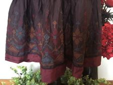GORGEOUS EMBROIDERED SKIRT BY BOHEMIA OF SWEDEN BOHEMIAN, HIPPY, LAGENLOOK