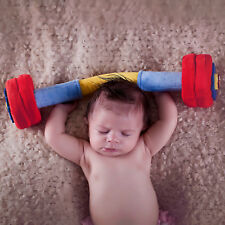 WOD Toys Baby Barbell Plush with Rattle Toy for Newborns, Infants and Babies