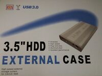 3.5 SATA HARD DRIVE CADDY HDD CASE ENCLOSURE USB 3.0 ALUMINIUM CASE RETAIL BOX
