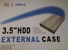 3.5 SATA HARD DRIVE CADDY HDD CASE ENCLOSURE USB 3.0 ALUMINIUM CASE RETAIL BOX