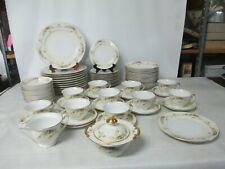 New listing Meito China Hand Painted Made In Japan Lot Of 70 Pieces Gold Trim Plates-Bowls