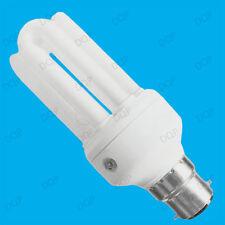 2x 15w CFL Bajo Consumo atardecer hasta Sensor Amanecer Bombilla; BC B22,