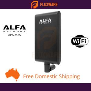 Alfa 2.4GHz/5GHz 8/10dBi Dual-Band High-Gain Wifi Panel Antenna - APA-M25