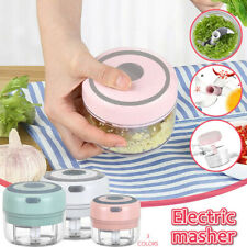 Electric Garlic Masher Complementary Cooking Machine Wireless Cutting Artifact