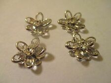 4 ~ 14mm  Swarovski Crystal Elements  Silver Plated   Findings   SE14