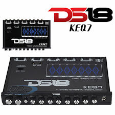 DS18 KEQ7 7 Band Equalizer / Crossover Front Aux Input / 7 Volt Pre-Amp Outputs