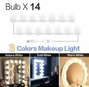 3 Modes Colors Makeup Mirror Light Led Touch Dimming Vanity Dressing Table Lamp