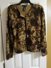 Jones New York cardigan large, brown floral, new w/out tags Originally $79