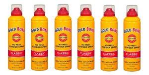 Gold Bond No Mess Powder Spray Classic Scent 7 Oz ( 6 Pack)