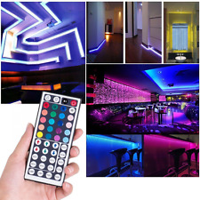 5M RGB 3528 300 Led SMD Flexible Light Strip Lamp 44 key IR Remote Controller US