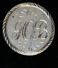 1857 Love Token Engraved IOB Design silver Liberty Seated Dime 10c Ten Cent