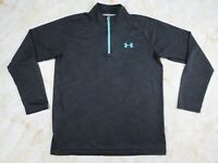 Women's Under Armour HeatGear 1/4 Zip Loose Fit Black Pullover Size Small