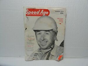 VINTAGE  MAGAZINE - SPEED AGE - MARCH 1951 - HENRY BANKS COVER