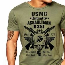 US Marines Infantry Assaultman T shirt men MOS 0351 USMC army USA size S-3XL