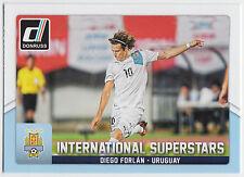 DIEGO FORLAN 2015 Donruss Soccer International Superstars #61 Uruguay