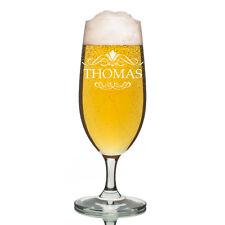 Leonardo vidrio Pilsner Copa de cerveza incl. Grabado Ornamento