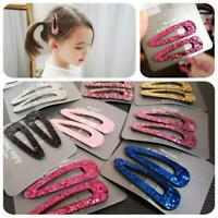 2Pcs Women Multi-color Sequins Hair Clip Snap Barrette Hairpin Hair Accessories