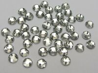 1000 Clear Flatback Acrylic Sewing Round Rhinestone Gems 5mm Sew on beads
