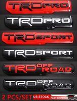 High-quality 2PCS Tacoma TRD PRO/OFF ROAD/SPORT Door Emblem Sticker Badge OEM