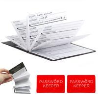 2X Kikkerland Mini Password Book Accordion Organizer Keep Personal Reminder Gift