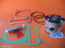 Piston 72mm + 0.50 with Rings Pin Gasket kit Suzuki GN 250 Runner Ozark ATV Quad
