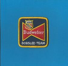 Rare Budweiser US Bobsled Team Winter Olympics Iron On Hat Jacket Patch Crest