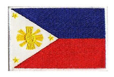Flag Patch Fusible Badge Philippines 3 11/32x2 5/32in Embroidered