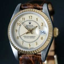 Stunning 1987 Rolex 69173 18K/SS Lady Datejust, Original Papers, Serviced, NO RE