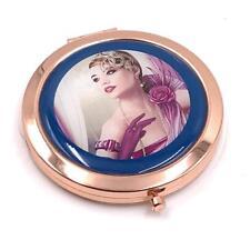 Elegant Charleston Range Lady Purple Dress Compact Mirror Gift For Her SP1876