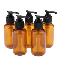 5x 100mL Plastic Empty Pump Bottle Travel Shampoo Lotion Body Wash Container