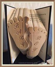 Baby Boy Feet Folded Book Art Folding PATTERN ONLY #3522