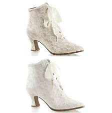 PLEASER FABULICIOUS Victorian-30 Lace-Up Wedding Day Victorian Ankle Boots