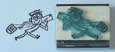 Mr Zip Mailman/Postal Carrier Running rubber stamp Amazing Arts cute vintage fun