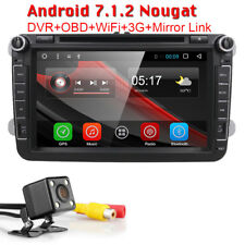 """For VW Passat Jetta GPS Navi Stereo 8"""" Android 7.1 Car DVD Double Din Player+CAM"""