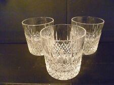 """STUART CRYSTAL SHAFTESBURY WHISKY GLASSES / TUMBLERS / 9oz - 3 5/8"""" Tall UNUSED"""