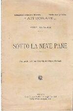 SOTTO LA NEVE PANE di Anita Ferraresi - Trevisini Api dorate illustrato Fornari