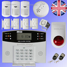 LCD Security Wireless GSM Autodial Home Office Burglar Intruder Fire Alarm SALES