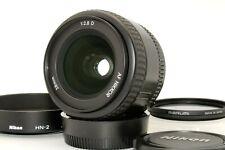 Mint Nikon AF NIKKOR 28mm f/2.8 D Wide Angle Lens Hood Polarizing Filter Japan
