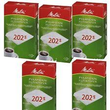 Melitta Pyramiden Filterpapier 202 S - Filtertüten 5 x 100 Kaffeefilter