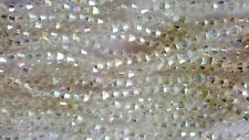 Joblot 10 stringhe (1200 Perline) 4mm Bianco chiaro AB Bicone CRYSTAL BEADS NUOVO