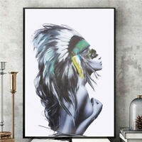 Nordic Girl Portrait Poster Print Canvas Picture Home Wall Art Painting no frame