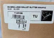 CHRISTIAN LOUBOUTIN Silver Glitter Patent Leather RIVIERA Wallet