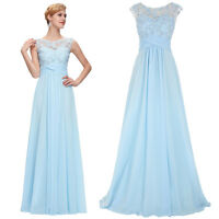 GK New Long Chiffon Evening Formal Party Ball Gown Prom Bridesmaid Dress Stock