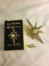 "Vintage NuTone PB-17 ""Starbrite"" GOLD Anodized Doorbell"
