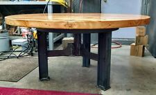 One of a kind industrial steel table base