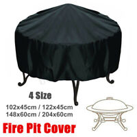 4 Size Waterproof Outdoor Patio Round Fire Pit Cover Protection Dustproof